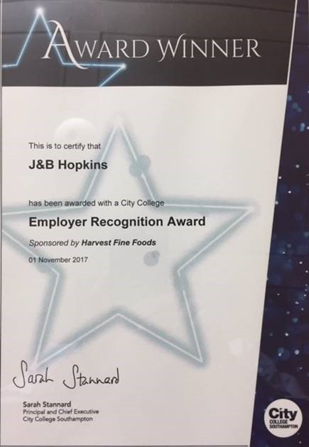 Southampton City College Awards Evening J B Hopkins Ltd
